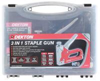 Dekton 3 In 1 Staple Gun With Staples, Heavy Duty Stapler Ideal For Home, Office