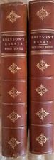 EMERSON'S ESSAYS FIRST AND SECOND SERIES BY RALPH WALDO EMERSON, 2 VOLUMES 1895
