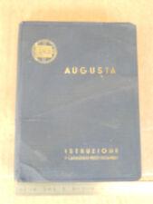 MANUALE USO MANUTENZIONE ORIGINALE LANCIA AUGUSTA 1935 E CATALOGO RICAMBI