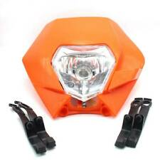 FXCNC KTM SX EXC XCF Motorcycle Dirt Bike Supermoto Universal Headlight Orange