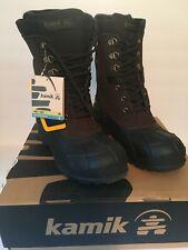 NWT Kamik Men's NationPlus Waterproof -40 Leather Winter Snow Boots Dark Brown 9