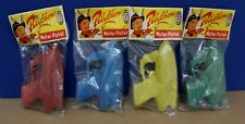 4 Vintage Poly Plastic Space Water Pistols Guns Mint in Header bags HK 60s NOS