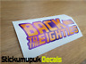 Back to the Eighties - Retro Car Sticker ,Van Dub Sticker For Car Windows/Panel