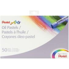 Pentel Arts Phn-50 Oil Pastels - 50 Pieces