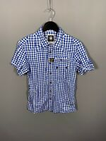 G-STAR RAW SHORT SLEEVED Shirt - Medium - Check - Great Condition - Men's