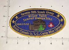 Toronto 55th Scouts Group Patch  - Willow Valley - Camp Blue Springs 2014