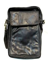 WILSONS LEATHER BROWN WRISTLET ORGANIZER VINTAGE CLUTCH WALLET SMALL