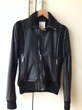 Beautiful Black Diesel Leather Jacket Size Small New