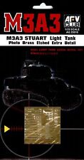 AFV Club 1/35 AG35010 Photo Brass Etched Extra Detail for WWII US M3A3 STUART
