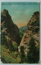 1909 Postcard The Hercules Pillar From Below Cheyenne Canyon Colorado Co #499u