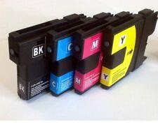 Brother Set de 4 couleurs LC970 LC1000 DCP130C LC-970 compatible cartouches d'encre