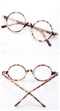 45.70mm Vintage Round Tortoise Shell Eyeglass Frame Full-Rim Clear Lens Glasses
