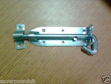 """HEAVY DUTY 6"""" PAD LOCK BOLT FOR GATE FENCE SHED DOOR CUPBOARD SECURITY SAFETY"""