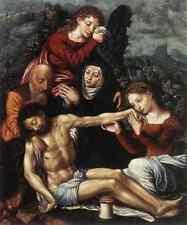 Hemessen Jan Sanders Van The Lamentation Of Christ A4 Print