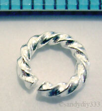 10x STERLING SILVER OPEN TWIST JUMP RING JUMPRING 6mm N047