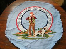 """Collectible Cross Stitch Sampler """" I'd Rather Be Hunting"""" 13 Inch CUTE"""