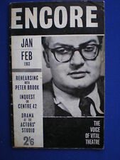 Encore  The Voice of Vital Theatre - Jan/Feb  1963