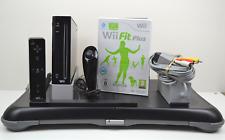 Black Nintendo Wii Fit Plus Console Bundle inc Controllers, Board & Game