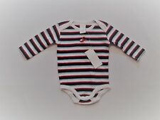 """NWT Gymboree """"Baby Helicopter"""" Red White Blue Striped Bodysuit Top, 0-3 mos."""