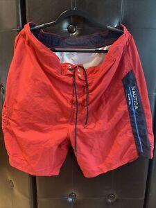 Nautica Red Trunks Size XXL Summer Beach Wear Pool Side