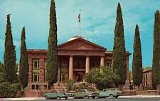 Kingman Arizona Mohave Court House Street View Vintage Postcard K60837