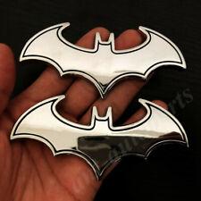 2pcs Big 3d Metal Chrome Batman Dark Knight Mask Car Emblem Badge Decal Sticker