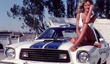 1976 Mustang II White w Blue Cobra II CHARLIE'S ANGELS 1:18 GreenLight 12880