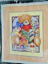 StoryTime Bears Bucilla 4724 Picture  Needlepoint New  Kit