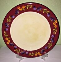Five Oneida TUSCAN HARVEST Hand Painted Dinner Plates - Dishwasher & Microwave