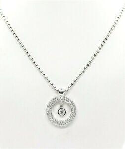 "$6,440 Roberto Coin Cento 18K White Gold 0.80ct Diamond Pendant 16"" Necklace"