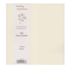 PACK OF 50 DL SIZE IVORY CARD INSERTS 120GSM FOR CARDMAKING ALL OCCASIONS W117