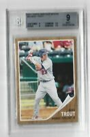 Mike Trout Rookie Card 2011 Topps Heritage Minors #44 BGS 9 MINT