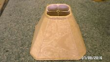 """1366M Golden Tan Fabric Table/Floor Lamp Shade 10.5"""" Tall Tapestry Look CLEAN !!"""