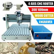 New Listing4 Axis Cnc 3040 Router Engraver Milling Drilling Wood 3d Cutter Engravingrc