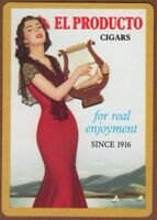 Playing Cards 1 Single Card Old Wide EL PRODUCTO CIGARS Advertising Girl Tobacco