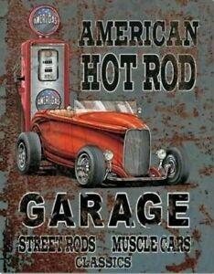 American Hot Rod Garage (Ameri-Gas) metal sign 400mm x 320mm (de)