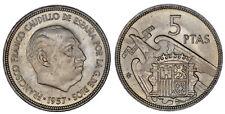 5 PESETAS FRANCO (ESTADO ESPAÑOL). 1957*19-61. Ni. FRANCISCO FRANCO. UNC/SC.