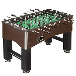 Hathaway Primo Foosball Soccer Table, Wood Grain Expresso Finish, 56-Inch