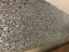 Chunky silver 3d glitter wallpaper 6 meter roll fabric backed rrp £125 135cm