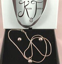 Killer Jewels - Australian Handmade Silver & Polished Bead Necklace Earring Set!