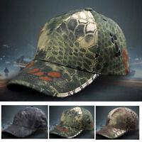 Homme Chapeau Réglable Camouflage Pêche Militaire Casquette Hat Soleil Sport