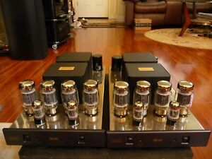 Cary Audio SLM-100 Monoblock Tube Power Amplifiers - The Original Factory Boxes.