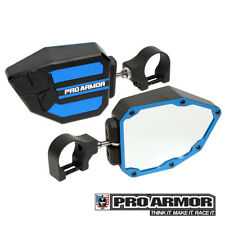 "Pro Armor Universal Blue Side View Mirrors 1.75"" Clamp Kawasaki Can-am Polaris"