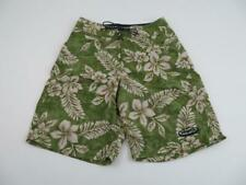 Patagonia Mens Hawaiian Planning Board Shorts Size 28 Green Trunks Swim Suit Vtg