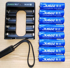 8pcs JUGEE1.5v 3000mWh rechargeable Lithium  AA li-polymer battery +charger