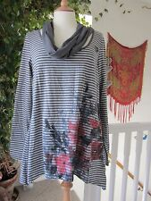 George Grey Mixed Coloured Tunic With Grey Scarf Size 16 New.