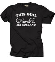 This Girl loves her Husband T-shirt Gift for Wife Tee Shirt