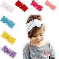 Baby Girl Headband Soft Lace Bow Elastic Band Hairband Kids Hair Headwear Wraps