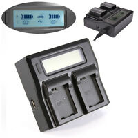 Dual Battery Charger with LCD display For Sony NP-FW50 A7R A7S A7 II NEX7 NEX-5R