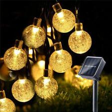 Solar Lichterkette Glühbirnen Außen Garten String Licht Birnen Party Deko Balkon